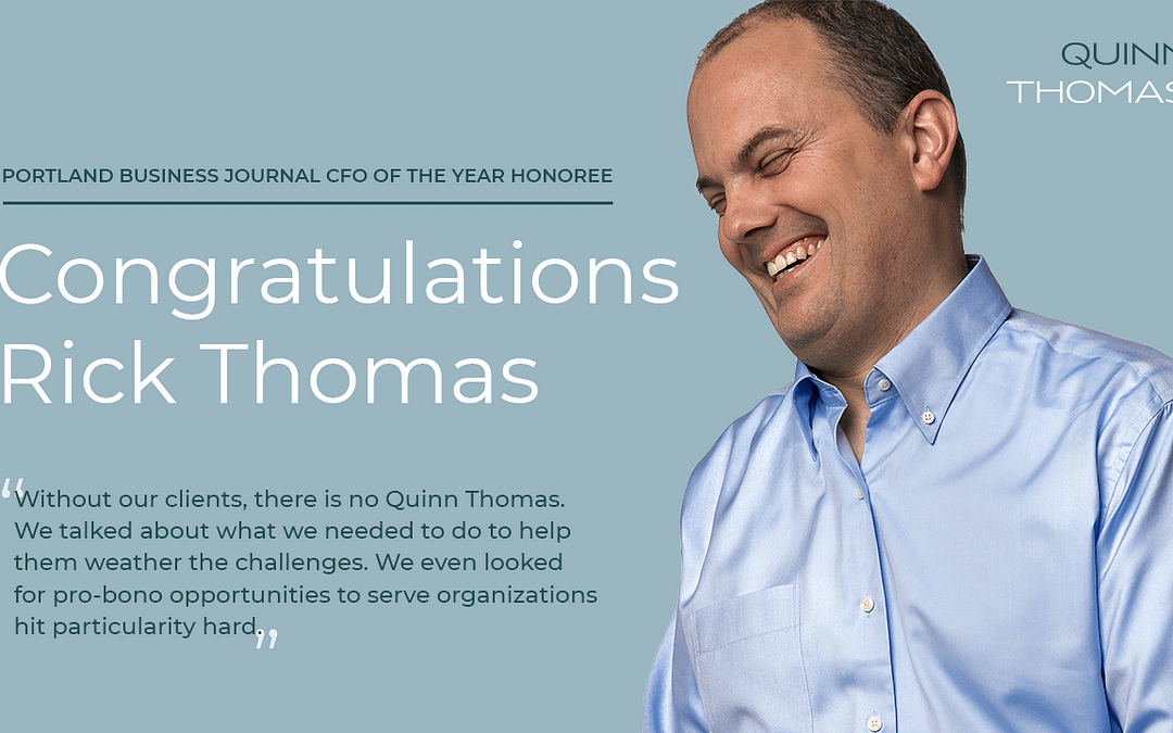 Rick Thomas recognized as a Portland Business Journal CFO of the year honoree