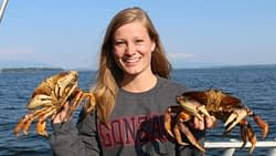 Alysa with dungeness